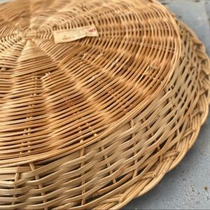 Vintage Accents - Vintage Flat Wicker Basket